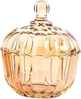 Pumpkin Shape Glass Apothecary Jar Candy Jar Wedding Candy Buffet Jars Crystal Food Jar with Lid