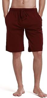 RENZER Men's Pajamas Pants 100% Knit Cotton Sleep Short Lounge Pants
