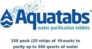 Aquatabs Water Purification Tablets Deluxe 250-Count
