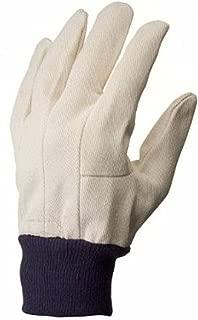 G & F 7407L-12 Men's Glove Cotton Canvas Work Gloves, Sold by Dozen, Large, White 12 pairs