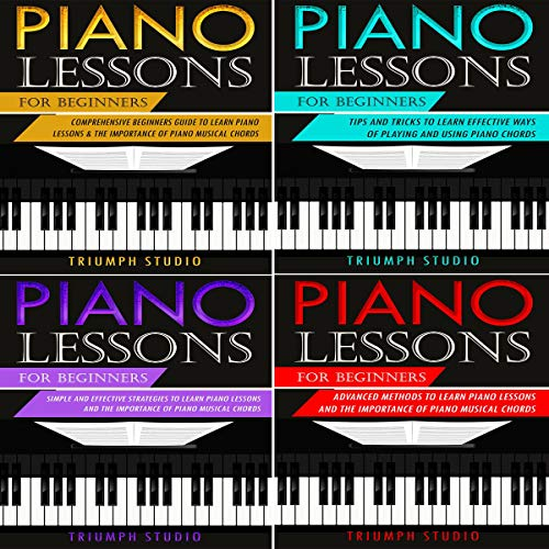 Piano Lessons for Beginners: 4 in 1 cover art