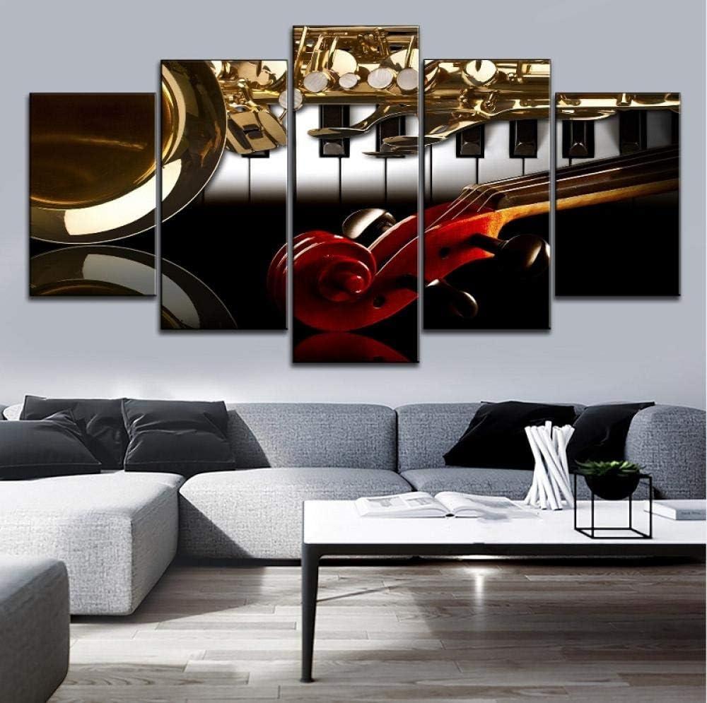 ZDDBD 5 Pezzi HD Stampato Stampa Immagine Poster Motore Duramax V per la Moderna Camera da Letto Decorativa Soggiorno Home Wall Art Decor