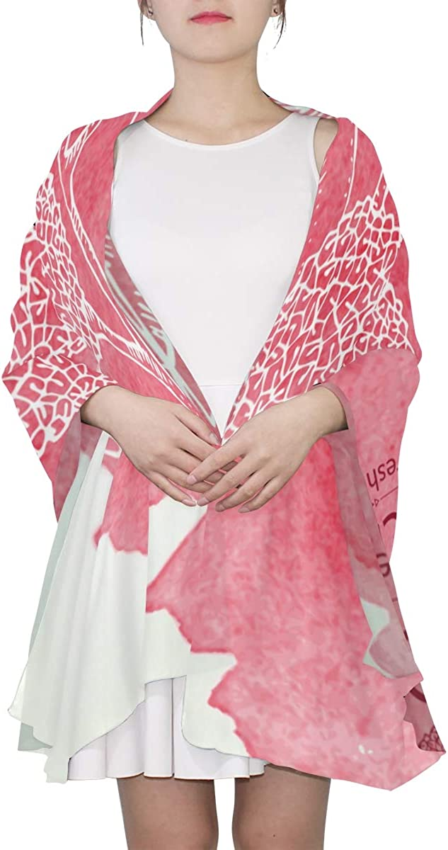 Chinese Lychee Hand Drawing Unique Fashion Scarf For Women Lightweight Fashion Fall Winter Print Scarves Shawl Wraps Gifts For Early Spring