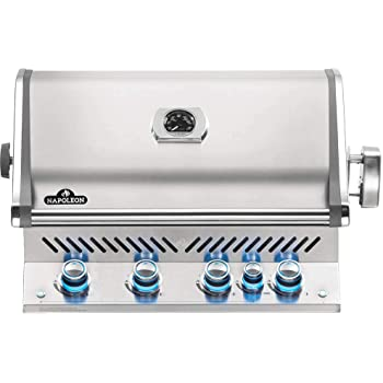Napoleon BIPRO500RBNSS-3 Built- in Prestige PRO 500 Natural Gas Grill Head, sq.in. + Infrared Infrared Rear Burner, Stainless Steel
