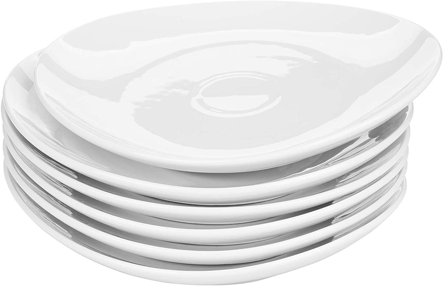 Yarlung 6 Pack 11 Inch Outstanding Porcelain National uniform free shipping Oval Plates Dinner White Salad