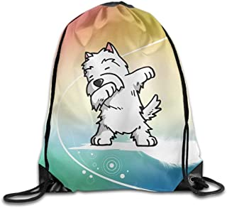 5ac242c212a MichelleSmithred Funny Dabbing West Highland White Terrie Unisex Home Gym  Sack Bag Sport Drawstring Backpack Bag