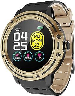 Gymqian V5 Sport Smart Watch, Ip67 Monitor de Ritmo Cardíaco Impermeable a Prueba de Agua Smartwatch Sports Fitness Tracker Sleep Monitor Pedómetro Exquisito/B