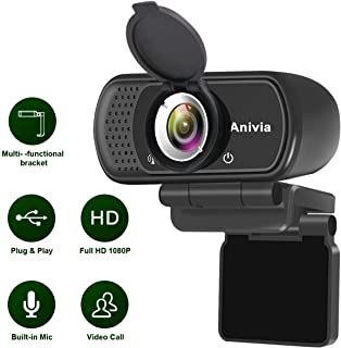 W5 HD 1080P Webcam with USB Plug- Computer Camera for Video Calling and Recording, 1080p Streaming Camera, Desktop or Laptop Webcam