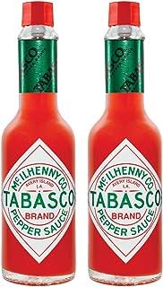 Tabasco Pepper Sauce, 2x 150ml, 0,15 l, original, scharfe Chili Sauce, 100% natürlich, Glasflasche