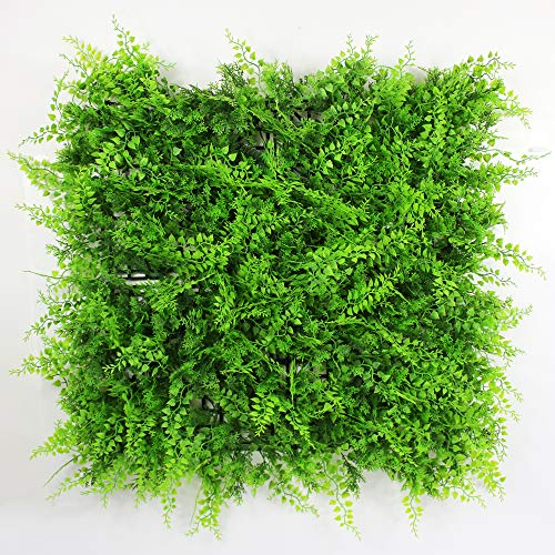 ULAND Artificial Hedges Panels, Topiary Fence Screening, Faux Greenery Grass Backdrop, Outdoor...