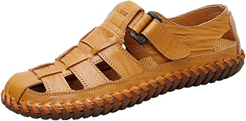 Outdoor-Sandalen Und Hausschuhe Baotou Lederschuhe Herrensandalen Sommer Freizeit Sandalen Lederschuhe hohl Herrenschuhe