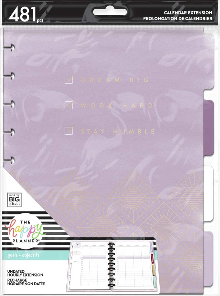 The Happy Planner Hourly Extension Pack Japan Maker New Max 42% OFF Theme Goals Girls with -