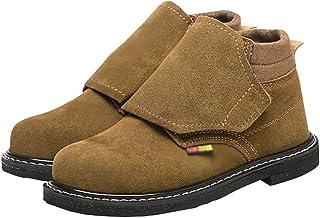 ZYFXZ Bottes de sécurité soudées de soudeur pour quatre saisons, bottines de cheville d'orteils en acier pour hommes, chau...