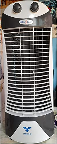 Rajath Home Appliances Blue Line High Speed Tower Fan with 25 Feet Air Delivery Anti Rust Body White