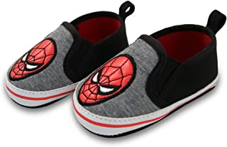 Marvel Marvel Baby Boys Spiderman Twin Gore Slip-On Shoes, Black/Gray, 6-9 Months