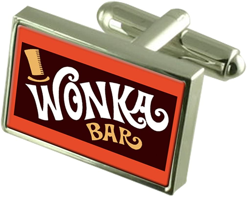 Select Gifts Wonker Chocolate Bar Tie Crystal Sale price Las Vegas Mall Clip Cufflinks