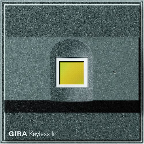 Gira 260767 Keyless In Fingerprint Gira TX_44 (Wassergeschützt UP), anthrazit