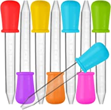 8 Pcs Liquid Droppers, SENHAI Silicone and Plastic Pipettes Transfer Eyedropper with Bulb Tip for Candy Oil Kitchen Kids G...