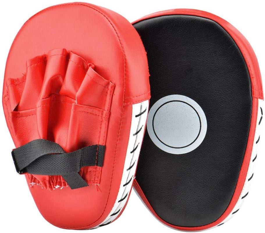 JVSISM 2Pcs Punching Boxing Mitts Focus Kicking Pads for MMA Target Pads Kickboxing Training Strike Target