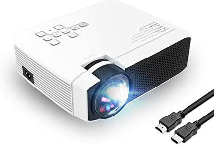 "$75 Get Projector Video Projector Support 1080P HD 180"" Big Screen Upgraded +60% Brighter Home Cinema Portable Projector with HDMI/USB/SD/AV/VGA Input for Mac/PC/TV/Movies/Games"
