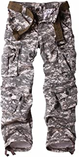 MUST WAY Men's Work Trousers Camouflage Army Combat Trousers Work Wear Cargo Trousers with 8 Pockets