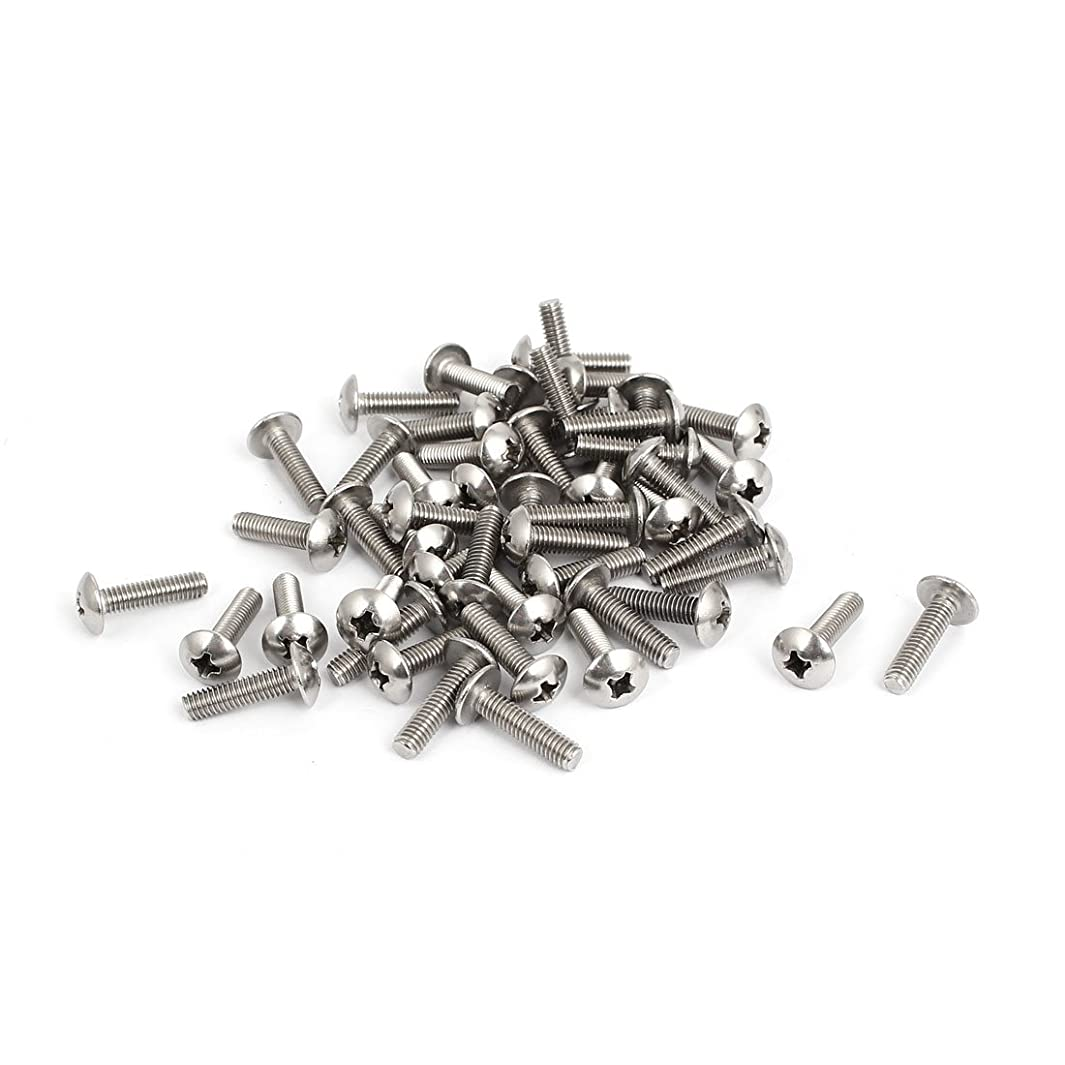 uxcell M4x16mm Stainless Steel Truss Phillips Head Machine Screws 50pcs