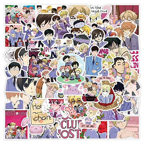 DSSK 50Pcs Ouran College Graffiti Sticker Waterproof Luggage Laptop Scooter Water Cup Sticker