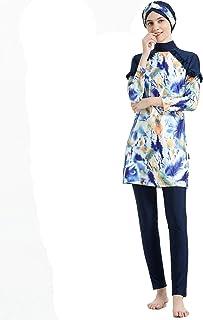 Mr Lin123 Donne Plus Size Stampato Floreale Swimwear Musulmano Islamico Arabo Costume da Bagno Donna Hijab Muslim Nuoto Beachwear