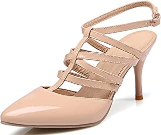 Catata Women Pointed Toes Pumps High Heeled Dress Wedding Sandals Sitiletto Shoes