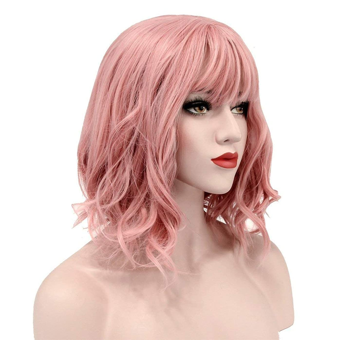とげのあるとげのあるためらう女性のための耐熱性高密度のコスプレ自然な髪型のためのかつらロングウェーブ合成かつら
