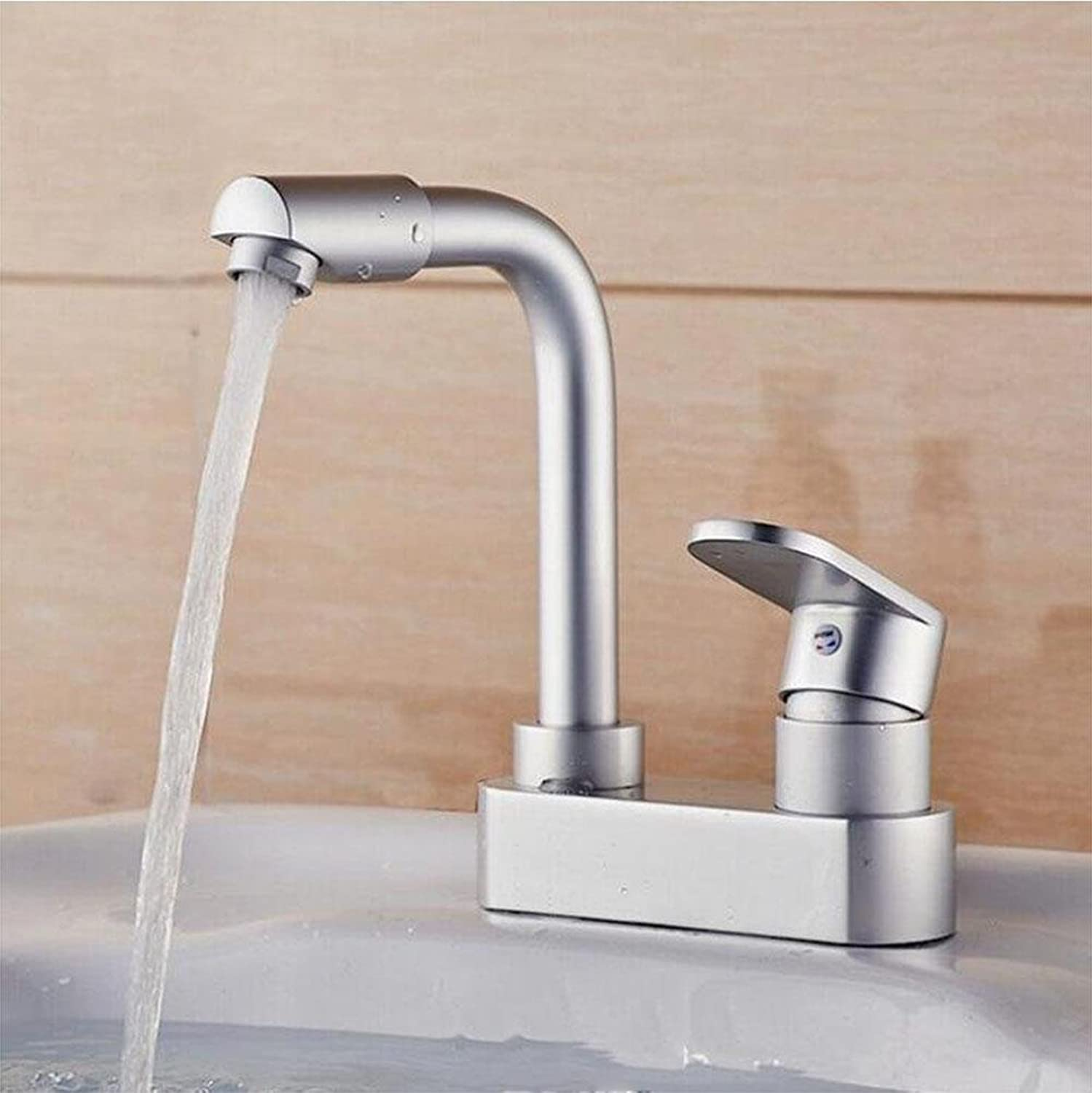 SHIQUNC Hot and Cold Kitchen sink Faucet Basin Mixer Taps 360 Degree redation