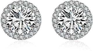 Yellow Chimes Crystals from Swarovski Stud Earrings for Women (White) (YCSWER-002MNLGHT-SL)