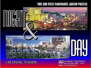 Las Vegas Night & Day–2puzzles de 500piezas