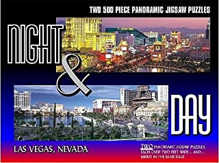 Gift Item Undefined, Las Vegas Night & Day 2 500 Piece Puzzles