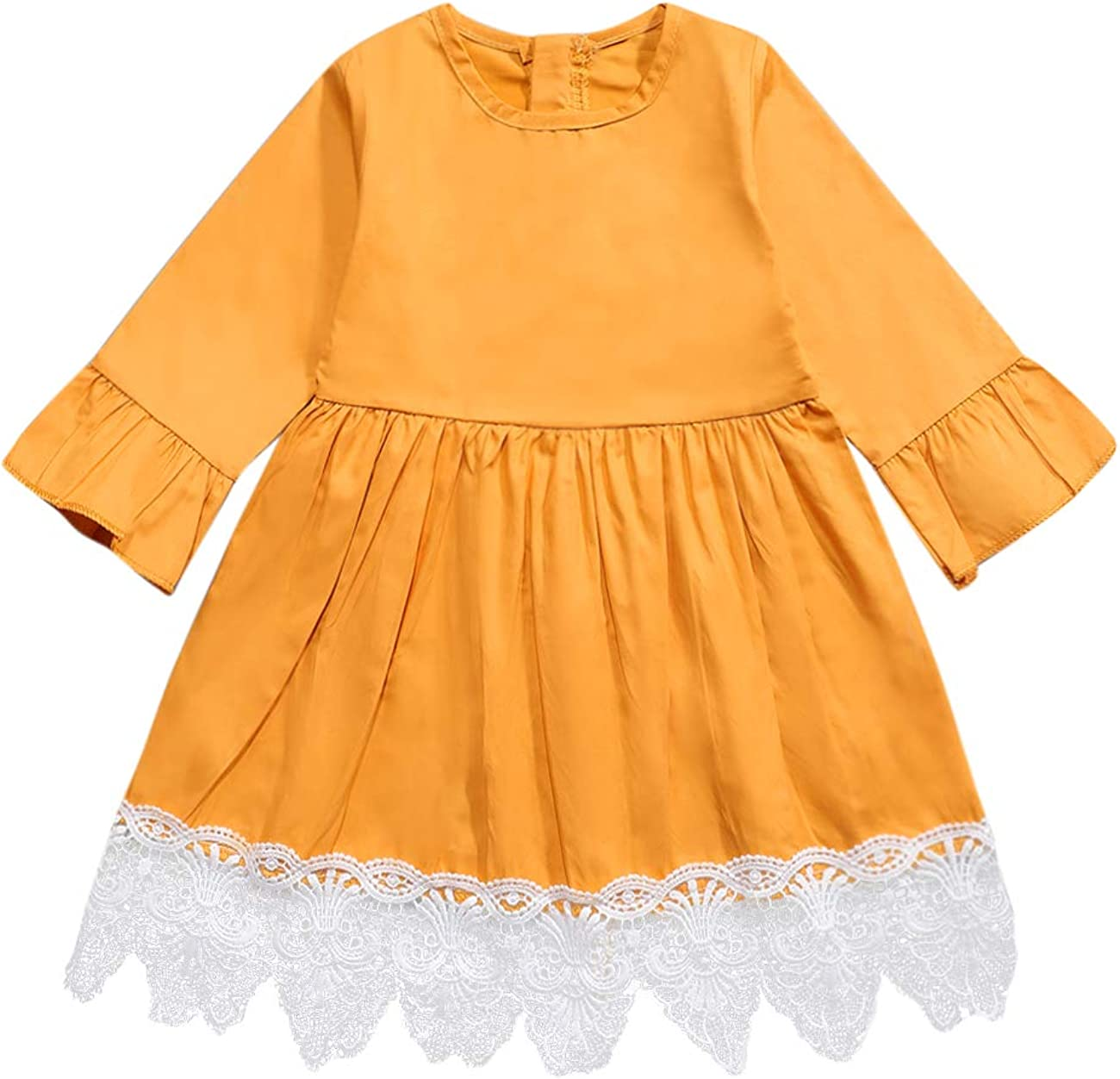 itkidboy Toddler Infant Baby Super popular specialty store Girl Long Dres Sleeve Ruffled Department store Denim