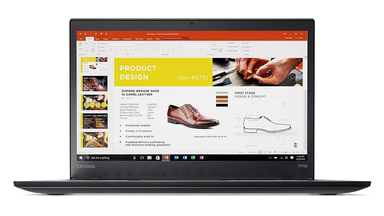 Lenovo ThinkPad T470s 14-Inch FHD IPS Laptop (Intel Core i5-7200, 8GB RAM, 256GB, Windows 10 Pro) - 20HGS43100
