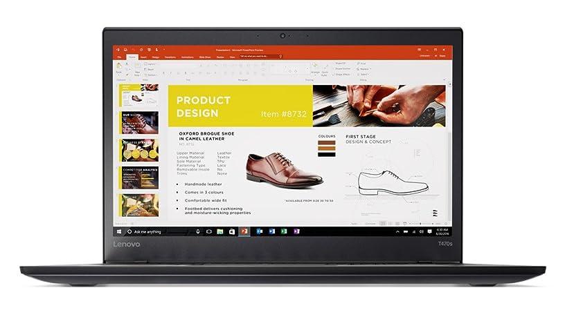 Lenovo ThinkPad T470s Touch Windows 10 Pro Laptop - Intel Core i7-7500U, 16GB RAM, 500GB SSD, 14
