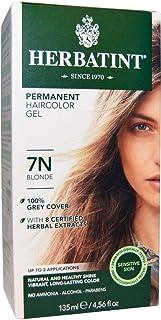 Herbatint, Permanent Haircolor Gel, 7N Blonde, 4.56 fl oz (135 ml)