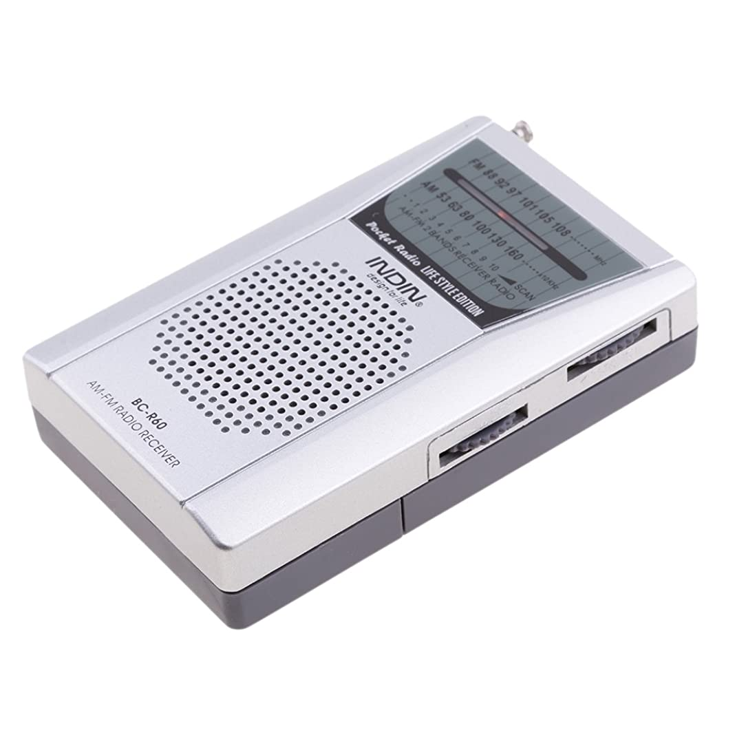 待ってに向かって小数多機能 AM FMラジオ ミニ スピーカー 伸縮式 3.5mmジャック 釣り/登山/フィッシング用 ポータブル 互換性