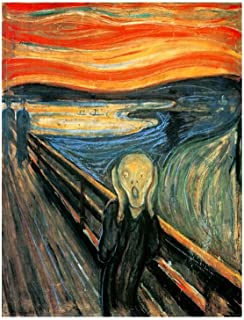 Alonline Art - The Scream by Edvard Munch | print on high quality fine art photo paper poster (Rolled) | 24