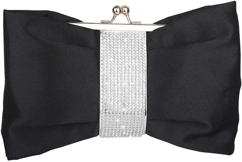 Clutch Bag Evening Bags for Women Crystal Diamond Formal Clutch Purses Handbags Shoulder Bags Cross Body Bag Party Cocktail Bag Prom Bridal Wedding Bag Evening Bag (color   Black)