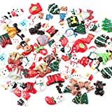 30pcs Christmas Resin Slime Charms Resin Flatback Flat Back Christmas Tree Snow Beer Resin Flatback Button Scrapbooking Embellishments for Craft Making Scrapbooking DIY Crafts