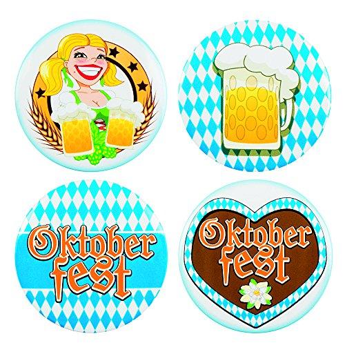 Panelize Oktoberfest 4 Buttons Anstecker Oktoberfestzubehör Bayrischer Abend