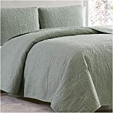 Mellanni Bedspread Coverlet Set Olive Green - Comforter Bedding Cover - Oversized 2-Piece Quilt Set (Twin/Twin XL, Olive Green)