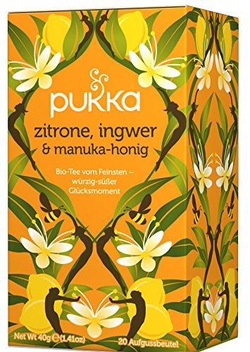 Zitrone, Ingwer & Manuka-Honig PUKKA Tee BIO 4 Packungen à 20 Teebeutel