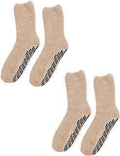 2 Pack of Non Skid/Anti Slip Gripper Socks For Women/Men - Hospital Socks
