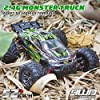 Hosim 2845 Brushless 52+ KMH 4WD High Speed RC Monster Truck, 1:16 Scale RC Car All Terrain Off-Road Waterproof 2.4GHZ Hobby Grade Remote Control Vehicle for Adults Children(Green) #3