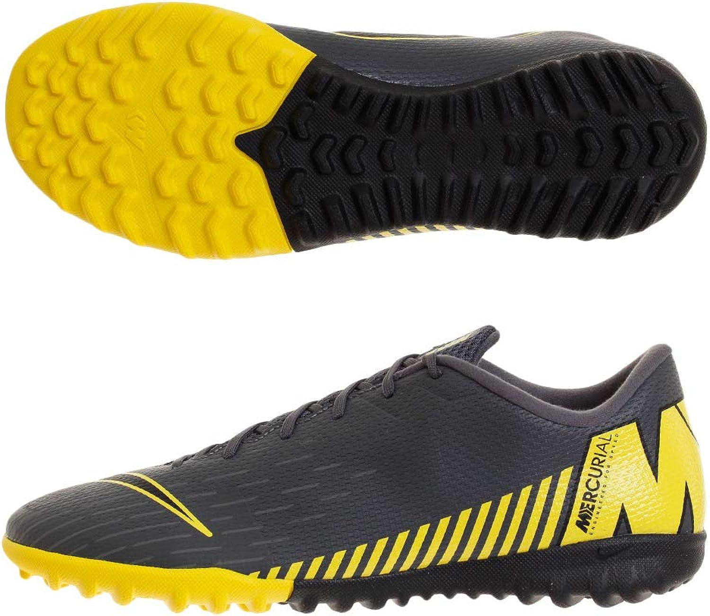 Nike Nike Vaporx 12 Academy (Tf) (Tf) herren A - dark grau schwarz-opti Gelb, Größe 7.5  mehr Rabatt