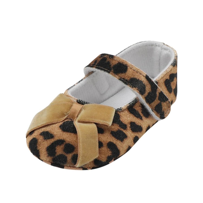 ベビーシューズ Mangjiu 女の子 スエード 豹柄 蝶結び 快適 ファッション サンダル 妊娠 出産 お祝い 室内靴 学步靴 滑り止め 運動靴 幼児靴