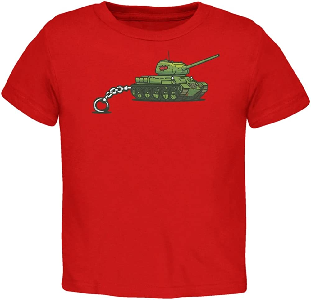 Old Glory Keychain Tank Ant Army Red Toddler T-Shirt